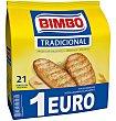 Panecillos tostados tradicionales 100% natural Bolsa 16 u (180 g) Bimbo
