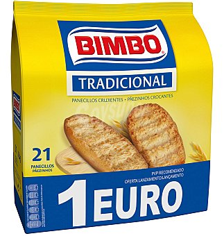 Bimbo Panecillos tostados tradicionales 100% natural Bolsa 16 u (180 g)