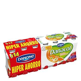 Danone - Danacol Yogur líquido fresa Danone 14 unidades de 100 g