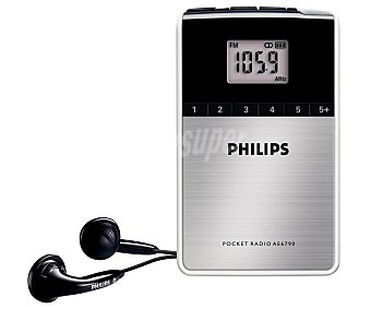 PHILIPS AE6790 Radio de bolsillo digital con 20 presintonías