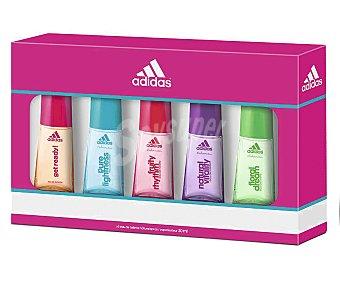 Adidas Pack de 5 colonias de aromas diferentes para mujer 30ml