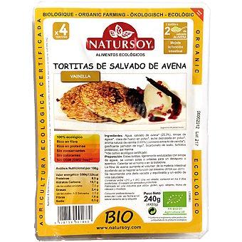 Natursoy Tortitas de salvado de avena sabor vainilla Envase 240 g