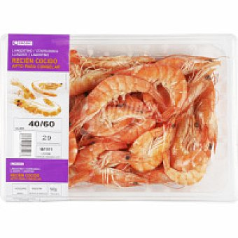 Eroski Langostino cocido 40-60 Bandeja 500 g