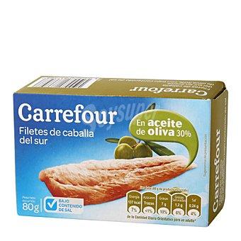 Carrefour Filetes de caballa del sur bajo en sal 115 g