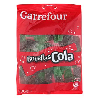 Carrefour Botellitas de goma sabor Cola 200 g