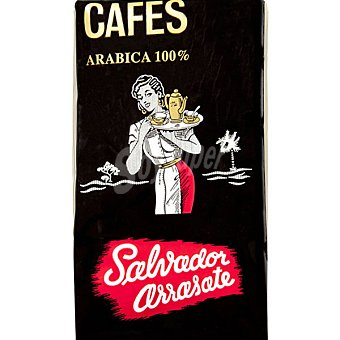 SALVADOR ARRASATE Café natural en grano 100% arábica Paquete 500 g