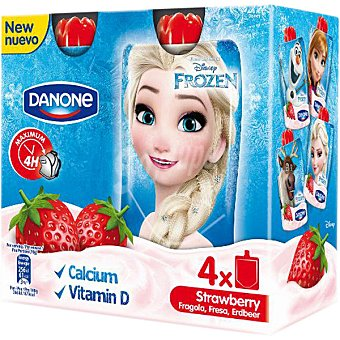 Danone Petit líquido sabor fresa edición Frozen Pack 4 unidades 70 g