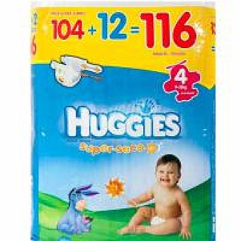 Huggies Pañal Talla 4 Paquete 116 unid