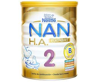 Nan Nestlé Leche de continuación 2 hipoalergénica a partir de 6 meses Lata 800 g