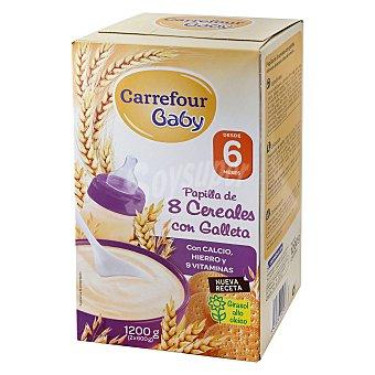 Carrefour Baby Papilla de 8 cereales con galleta 1200 g