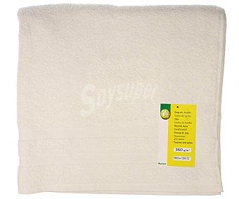 Productos Económicos Alcampo Toalla de baño 100% algodón color blanco, densidad de 360 gramos/m², 100x130 centímetros 1 unidad