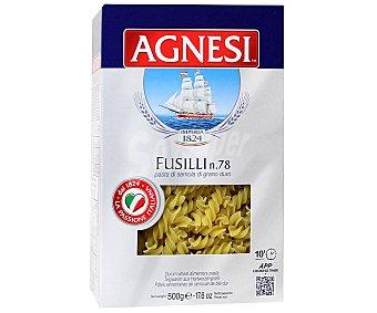 Agnesi Fusillis Nº 78, pasta de sémola de trigo duro de calidad superior 500 Gramos