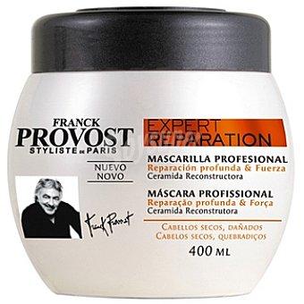Franck Provost Mascarilla profesional reparación profunda & fuerza con ceramida reconstructora para cabellos secos Tarro 400 ml