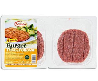 Carnicas Serrano Burger meat de pavo y pollo 320 gr