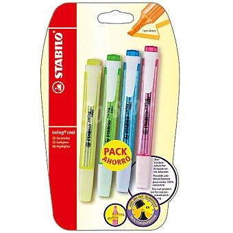 STABILO Swing Cool Pack de 3 + 1 fluorescentes en colores variados Pack de 3