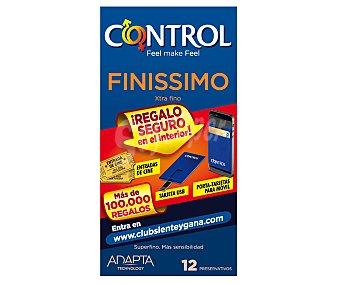 Control Preservativos extra finos para una mayor sensibilidad 12 unidades