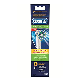 Oral-B Recambio cepillo dental eléctrico Cross Action 4 ud
