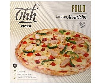 Ohh pizza Pizza horneada a la piedra con pechuga de pollo 400 g