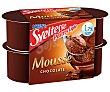 Mousse de chocolate 1,7 m.g Pack 4 unidades 64 g Sveltesse Nestlé