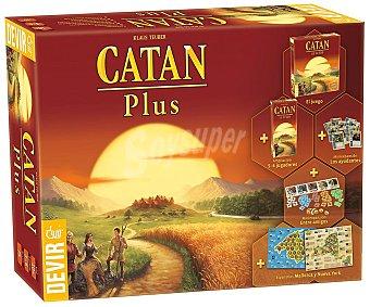 DEVIR Catán Plus Juego de mesa de estratega y gestión Catán Plus (juego básico+5 expansiones), de 3 a 6 jugadores, DEVIR.