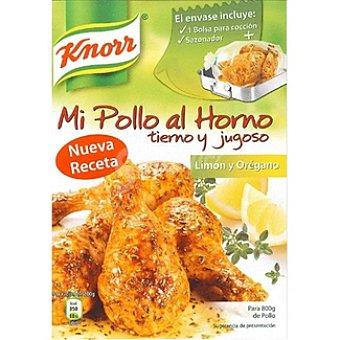 Knorr Sazonador para pollo al limón y orégano Mi Pollo al Horno Envase 33 g
