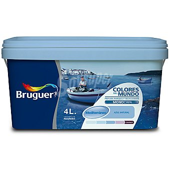 BRUGUER Mediterraneo Intermedio Pintura plástica mate para interior Colores del Mundo 4 l