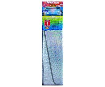 ROLMOVIL Parasol aluminizado plegable con cerrado mediante correas elásticas, efecto laser, cortina térmica reflectora y medida de 145x60 centímetros 1 unidad