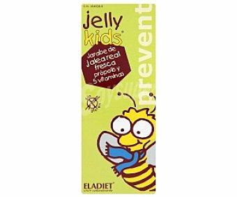 JELLY KIDS Jarabe Prevent, complemeno alimenticio de jalea real fresca con vitaminas y sin gluten para niños, 250 Mililitros