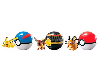 BIZAK Pokemon Surtido de Pokémons en pokeball, Clip and Carry BIZAK.
