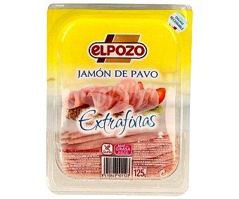 ElPozo Jamón de pavo en lonchas extrafinas 125 gramos