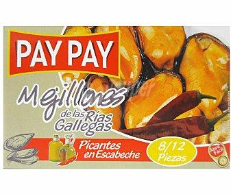 PAY PAY Mejillones Picantes 8/12 Piezas 70g