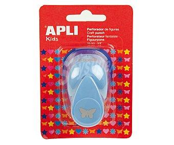 APLI Perforadora color azul, perfora en forma de mariposa 1 Unidad
