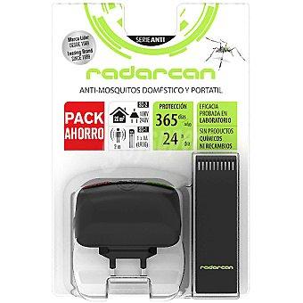 Radarcan Ahuyentador anti-mosquitos uso doméstico + ahuyentador portátil pack ahorro