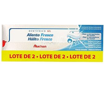 Auchan Gel Aliento Fresco Duplo 2 Unidades de 75 Mililitros