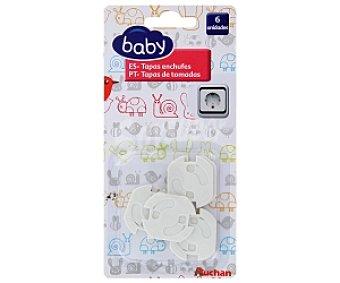 Baby Auchan Tapas de enchufes, 6 unidades