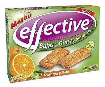 Marbu Galletas con naranja y soja bajas en grasas saturadas estuche 185 g Estuche 185 g