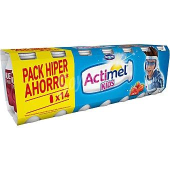 Actimel Danone Yogur sabor fresa envase 100 ml Pack 14 unidades