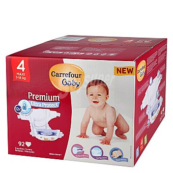 Carrefour Baby Pañal Premium T4 7-18 kg. 92 ud