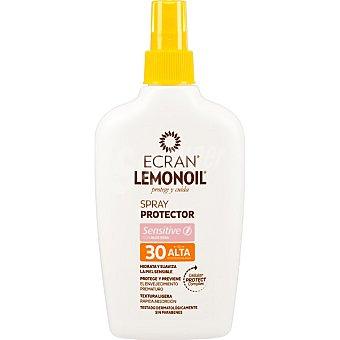 ECRAN LEMONOIL protege y cuida spray protector Sensitive FP-30 resistente al agua hidrata y suaviza la piel sensible frasco 200 ml