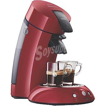 PHILIPS HD 7811/93 cafetera roja para monodosis de café por sobre Senseo