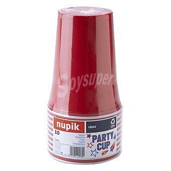 Nupik Vaso party rojo grande 550 cc 1 ud