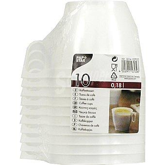 Papstar Tazas de café Paquete 10 unidades