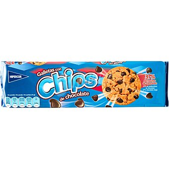 Hipercor Galletas con chips de chocolate 37% de trocitos Estuche 225 g
