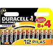 Pila alcalina Pack 8+4 unid AA+ Power DURACELL