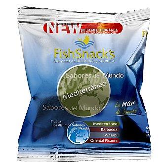 FishSnack's Aperitivo de bacalao y maruca sabor mediterráneo 60 g