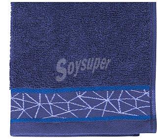Actuel Toalla para tocador 100% algodón color gris oscuro con cenefa geométrica, densidad de 450 gramos/metro², 30x50 centímetros 1 unidad