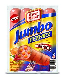 Oscar Mayer Salchichas jumbo Texmex Paquete 335 g (4 uds)