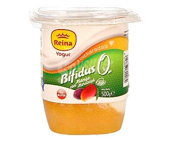 Postres Reina Yogur con bífidus 0% materia grasa con mango y maracuyá 500 gramos