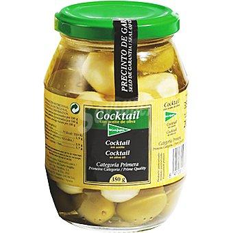 El Corte Inglés Cóctel de aperitivos con aceite oliva Frasco 200 g neto escurrido