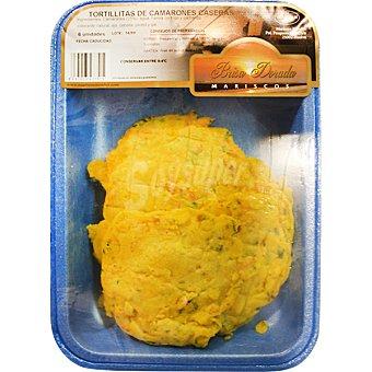 BRISA DORADA Tortillitas de camarones Bandeja 6 unidades